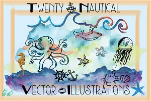 SALE! 20 Nautical Illustrations