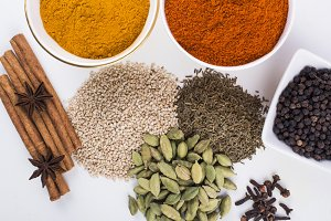 Various Indian Spices and Herbs