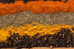 Indian Spices and Herbs Textures
