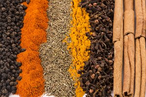 Spices and herbs textures