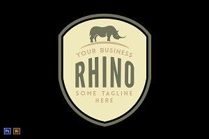 Rhino: Vintage Logo Template