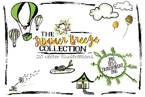 SALE! 20 Summer Breeze Illustrations
