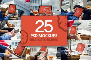 25 PSD Mockups Brainstorming
