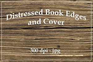 Distressed Book Edges and Cover