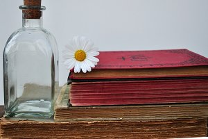 books and bottle