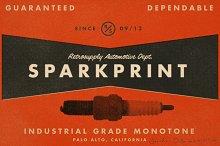 SparkPrint - Monotone Action