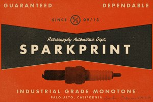 SparkPrint - Monotone Action