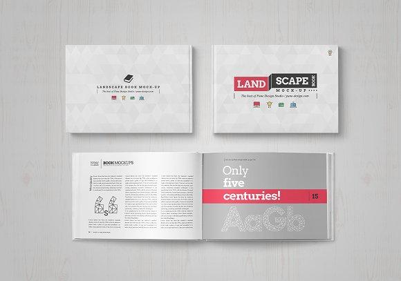 landscape book mock up set product mockups creative market