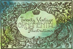 20 Vintage Ornamentals