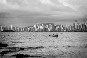 Sea & City in Black & White