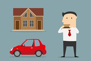 Businessman bought house and car