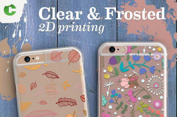 Clear & Frosted Cases in Product Mockups