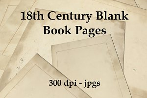 18th Century Blank Book Pages