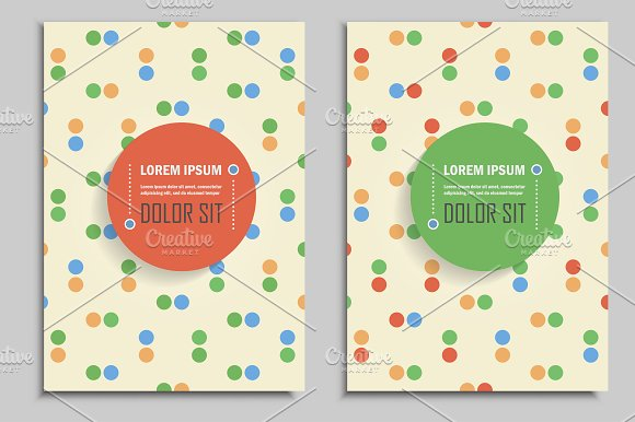 Brochures vintage style. Vol.2 - Brochures