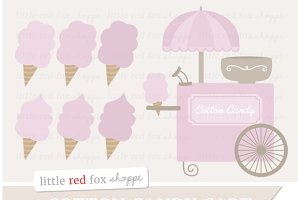 Cotton Candy Cart Clipart