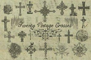 20 Vintage Crosses