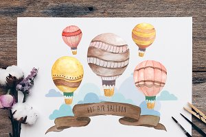 Hot Air Balloon Wall Art 2