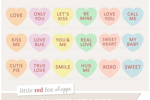 Candy Heart Clipart