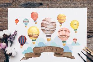 Hot Air Balloon Wall Art Bundle