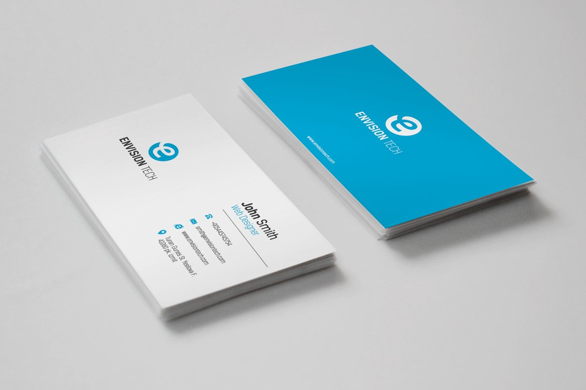 Simple Clean Business Card ~ Business Card Templates ~ Creative Market