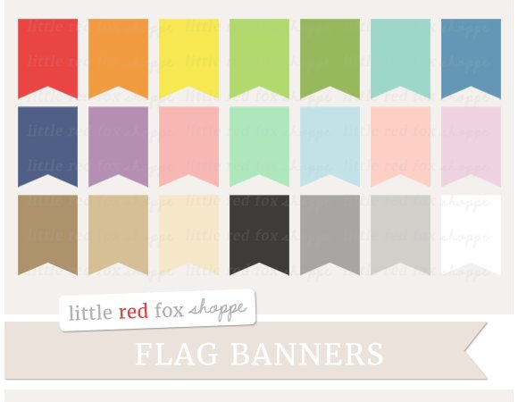 Flag banner. Clipart