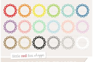 Scalloped Circle Frame Clipart