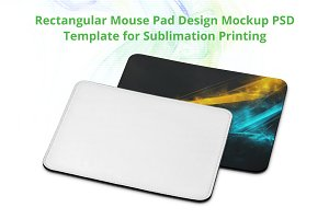 Rectangular Mouse Pad Design Mockup