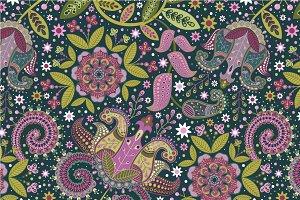 "Seamless pattern ""Garden"""