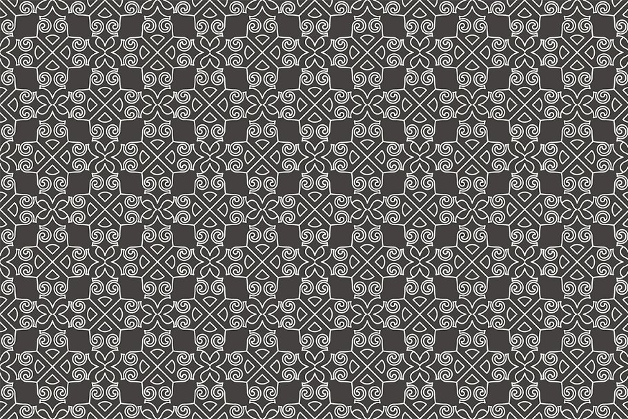 Set of seamless patterns in Patterns - product preview 3