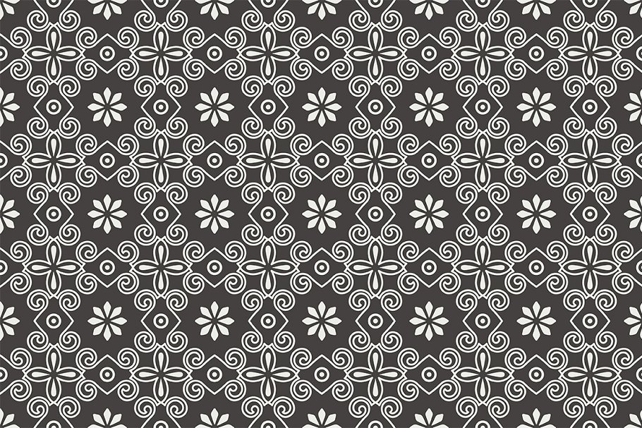 Set of seamless patterns in Patterns - product preview 5