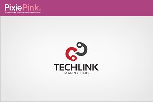 Tech Link Logo Template