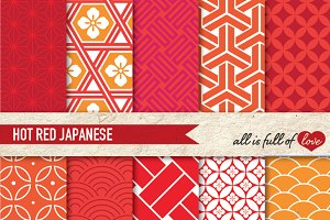 Patterns Red Hot Japan Illustrations
