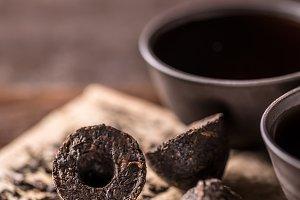 Fermented and aged dark tea