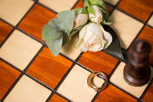 Wedding rings and chess