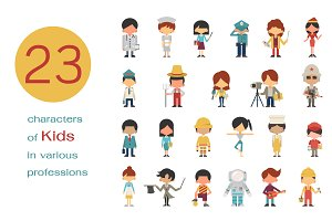 Kids in various professions