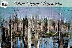 Artistic Clipping Masks Set 1 Large