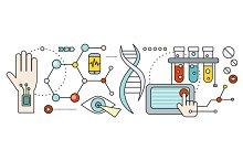 Laboratory with Human DNA