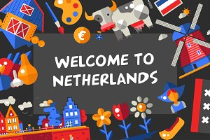 Bundle of Netherlands Icons & Cards