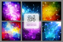 [40%OFF] 24 polygonal backgrounds