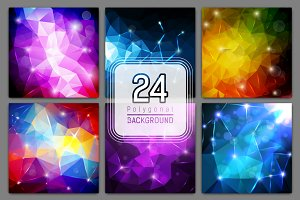 [50%OFF] 24 polygonal backgrounds