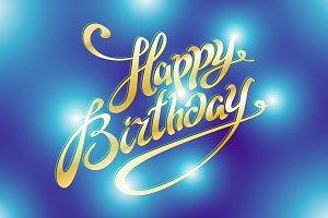 Happy birthday retro vector light
