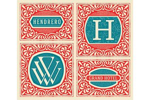 Vintage logos templates