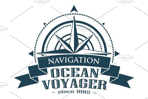 Compass Rose Navigation Logo. Vector - Illustrations