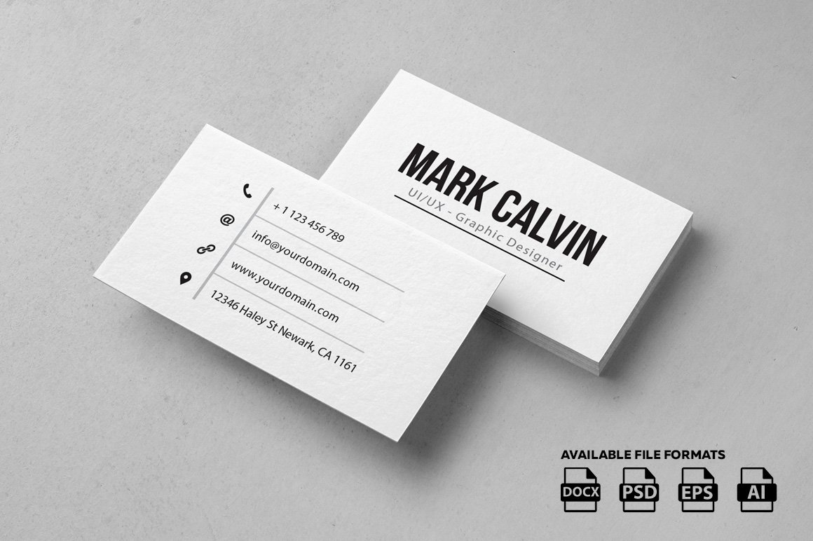 Simple individual business card business card templates for Business card pic