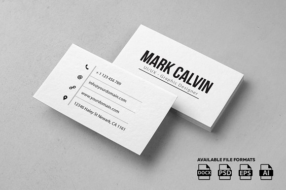 Simple individual business card business card templates for Single business card template