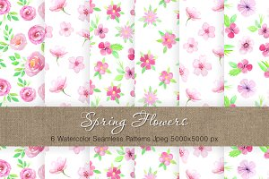 Watercolor Floral Patterns Vol.2