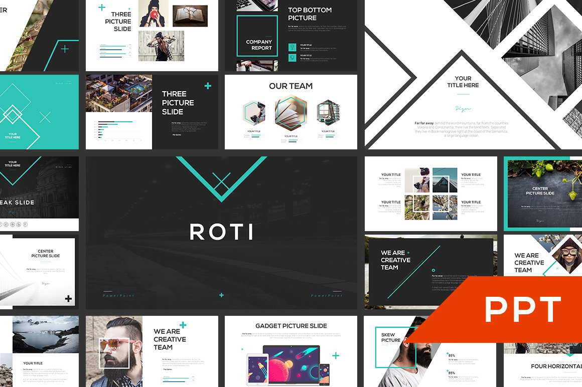 roti powerpoint template presentation templates creative market