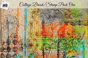 Collage Style Brushes Set 1