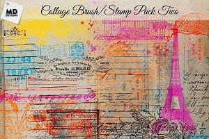 Collage Style Brushes and Stamps