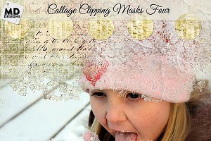 Collage Style Clipping Masks Set 4
